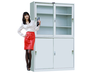 HDK-01 Wide Upper Glass Sliding Cabinet