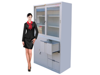 HDK-06 Wide 3-Sided-Drawer Sliding Cabinet