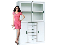 HDK-08 Wide Mid-6-Drawer Sliding Cabinet