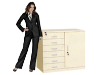 HD-017 Low 6-drawer Cabinet